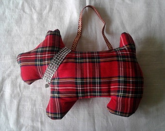 Scotty Dog tartan/diamante