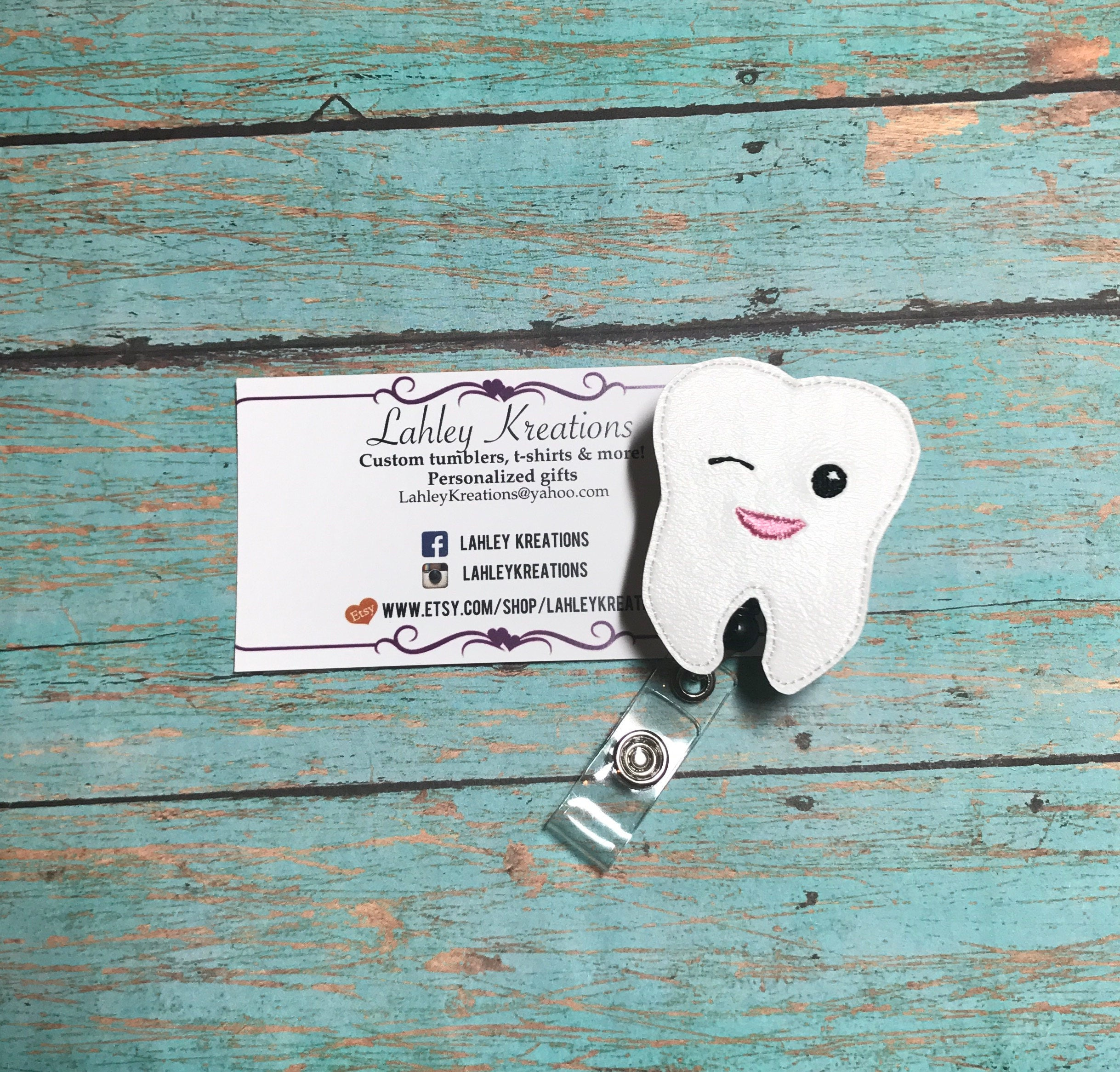 Tooth badge holder Dentist badge dental assistant badge