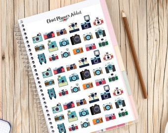 Retro Camera Photography Collection Planner Stickers | Camera Stickers | Photography Stickers (S-019)
