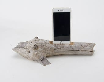 Docking Station for iPhone, iPhone dock, iPhone Charger, iPhone Charging Station, iPhone driftwood dock, wood iPhone dock/ Driftwood-No.1018