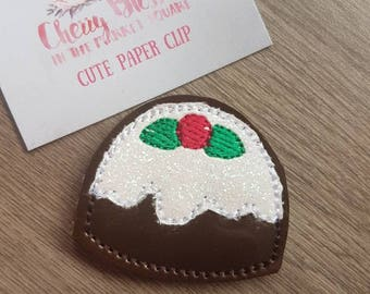 Christmas Pudding Paper Clip