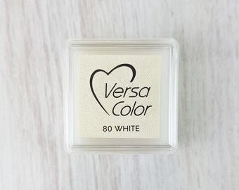 White Ink Pad - White Versa Color Pigment Ink Pad Small - Ink for stamp - Inkpad for Rubber Stamp - White Ink Pad - Stamp  Ink