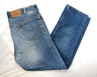 Vintage LEVI'S 501 Jeans ~ 38.5 x 30 ~ Red Tab ~ Made in USA ~ Faded ~ 38 39