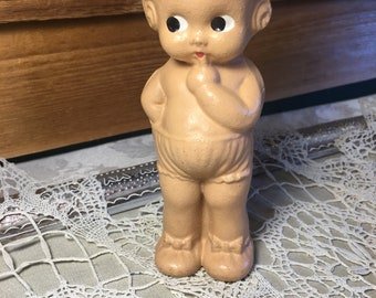Vintage Composition Dolly Dingle-Kewpie Style Oversized Frozen Composition Collectible Doll