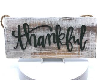 Thankful Barn Wood Sign