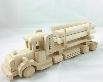 Personalised Wooden Toy Truck, Eco Friendly Toy, Traditional Toy, Wooden Name Truck, Wooden Truck, Toy Truck, Personalised Wooden Toy