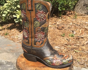 Western Boot Decor / Boot Flower Vase