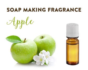 Apple Soap Fragrance 0.34 oz / 10ml Soap Making Smell, Handmade Soap Crafting Supplies, Soapmaking Perfume, Apple Scent for Homemade Soap.