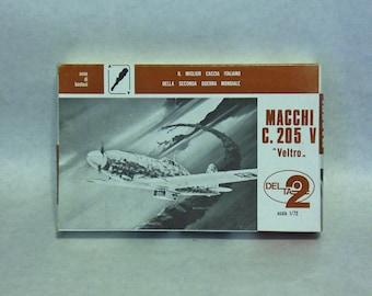VINTAGE - LOT OF 2 - Delta2 'Macchi C.205V Veltro' Model Airplane Kit 1:72, Aircraft Kit, Airplane Kit, Scale Model