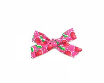 Cherries on Pink Modern Hantied