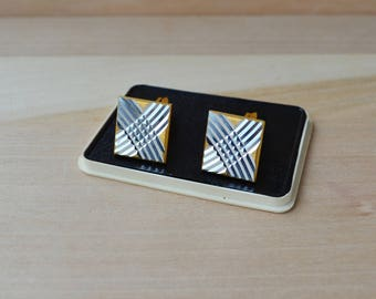 Square geometrical cufflinks Wedding elegant cufflinks Valentine day gift for boyfriend husband brother groom men's accessory jewerly