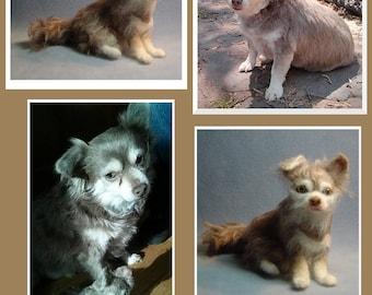 Custom dog Sculpture Pet replica needle felted portrait