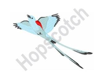 Scissortail Flycatcher - Machine Embroidery Design - 4 X 4 Bird