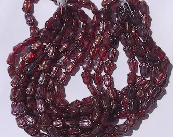 Tulip Beads~12/8MM~Siam Ruby~Vega~Czech Glass~25PC