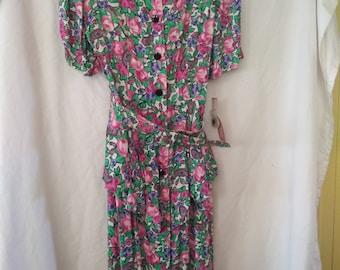 Vintage Ladies Spring dress size 11/12
