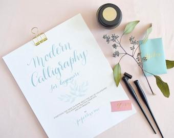 Modern Calligraphy Kit for Beginners Workbook   How to Calligraphy workbook & Kit   Calligraphy Kit Included   Modern Calligraphy How To Kit