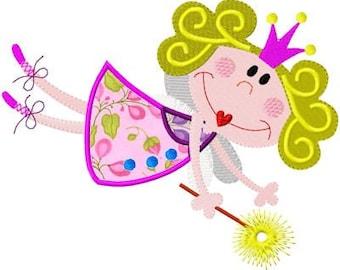 Fairy 2 Applique - Machine Embroidery