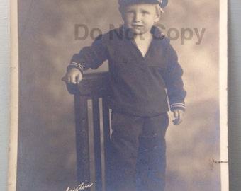 Vintage sailor boy photo nautical 8 x 10