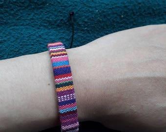 Vintage Handmade bracelet, cotton bracelet, vietnam gift, vietnam bracelet, brocade bracelet, embroidered cotton bracelet, jewelry women