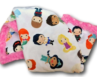 Princess Blanket * Princess Nursery * Princess Crib * Princess Decor * Princess Baby Gift * Princess Baby Quilt * Princess Minky * Blankie