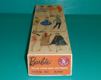 Reproduction Vintage Barbie T.M. Box for #1, #2 and #3 Ponytail Dolls