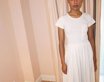 Every Day dress, Bridal Boho, Organic Cotton dress, T Shirt dress, Casual Sundress, Knee length dress,