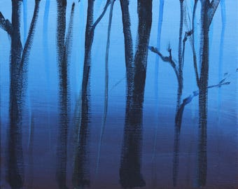Forest in Blue art print 11x14
