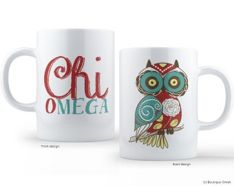 ChiO Chi Omega Owl Sorority Mug