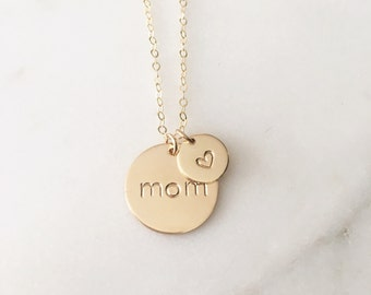 Big and Little Circle Charm Necklace