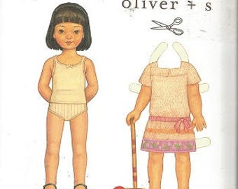 OLIVER + S  Pattern - Girl's CROQUET DRESS Pattern - Sizes 6M to +4 - Uncut