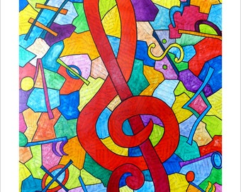 Symphony in G, large archival print by Susan Giannantonio