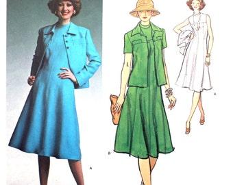 SALE UNCUT Vogue Paris Original Dress and Jacket 1465 Bust 36 Size 14