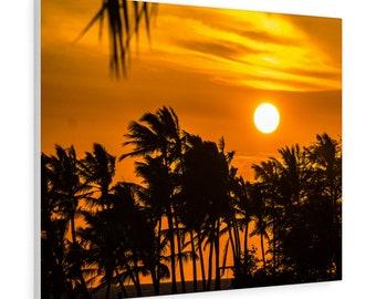 Hawaiian Orange Sunset Photo Canvas, Canvas Gallery Wrapped, Photo Canvas Art, Photo Canvas Prints, Photography Prints
