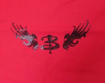 Handmade tote bag -Buffy stylized B with wings logo