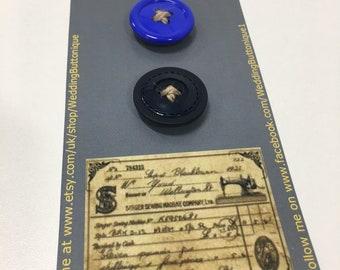 2 x Handmade Button Magnets ideal little gift
