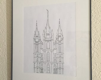 Salt Lake City Temple Sketch