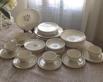 Vintage Royal China 22k Gold Dinnerware Whisper Victorian Plates Bowls Setting for 6 1940\u0027s - 1960\u0027s & Victorian dinnerware | Etsy
