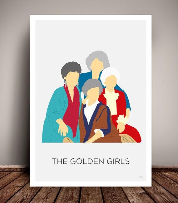 The Golden Girls // Minimalist TV Poster // 1980s - 1990s // Unique Art Print