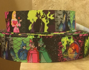 4 YDS Sleeping Beauty and Cast Ribbon **REMNANT**