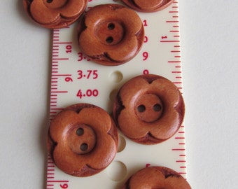 20 cm carved flower wooden buttons