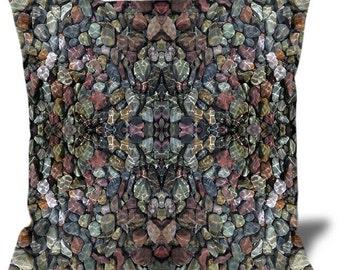 """Altered Stones 22""""x22"""" Velveteen Pillow Cover"""