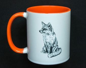 Sitting Fox Mug
