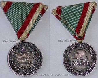 Austria Hungary WW1 Medal 1914 1918 Pro DEO et PATRIA Austrian Hungarian Commemorative WWi Military KuK Horthy Combatants Great War