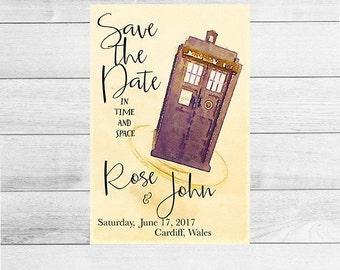 Wedding Doctor Who Save the Date              SKU: DWWEDSTD