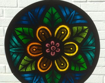 Floral Stained Glass Mandala