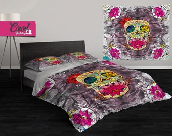 Personalized Bedding Cool Bedding Sugar Skull Family Bed Set