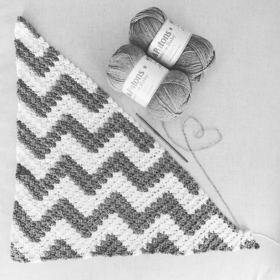 Chevron Crochet Corner To Corner Blanket Pattern With Graph From