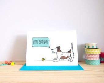 Happy Birthday Card / Jack Russell Card / Dog Birthday Card / Pet Birthday Card / Cute Birthday Card