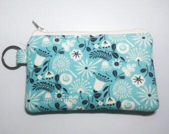 Tulip Flora, women wallet, flower, gift ideas credit card case, coin purse, id180424 porte monnaie femme, moneybag, small zipper pouch