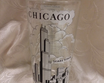 Chicago Sears Tower Souvenir Glass
